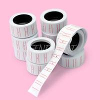 10x Preisetiketten Karton-Etikette Preisschild 20x12mm für MX-5500 Auszeichner