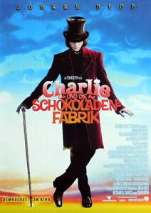 CHARLIE UND DIE SCHOKOLADENFABRIK original Kino Plakat A1 gerollt 2005 Teaser