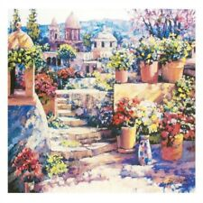 """""""Domes of Mexico"""" by Howard Behrens - Hand Embellished on Canvas"""