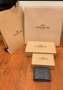 NEW Coach Gift Brown Box Black Logo