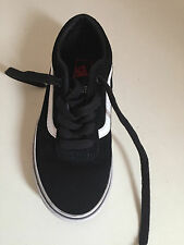 c5a988f8a00 Kids Unisex VANS Leather Trainers Shoes Black White SIZE 12 Children s Shoes