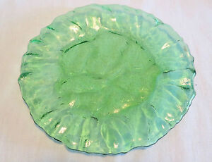 "Morgantown Crinkle/El Mexicano Green #1962 7 7/8"" Luncheon Plate(s)"