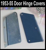 Corvette 1953 1954 1955 Door Hinge Metal Cover Plates Pair