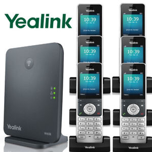 Yealink W60P DECT IP Phone System Base w/ 6 Cordless Handsets W60P + 5 W56H