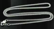 18K Solid White gold Curb link Chain Necklace 6.90 grams 16 inches lobster lock