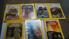 1973 NATIONAL GEOGRAPHIC MAGAZINES  7 ISSUES ALL DIFFERENT not complete (NG17)