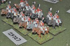 25mm napoleonic / british - dragoons 12 figures - cav (24727)