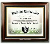 OAKLAND RAIDERS NFL Football Fan Certificate / Diploma Man Cave GIFT Christmas