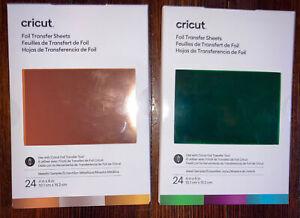 21 Cricut Foil Transfer Sheets 24ct (11 Jewel Samplers, 10 Metallic Samplers)