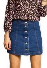 Machine Washable Mini Solid 100% Cotton Skirts for Women