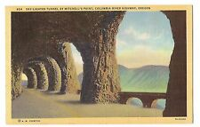 Day Lighted Tunnel Mitchell's Point Columbia River Hwy OREGON Postcard OR Linen
