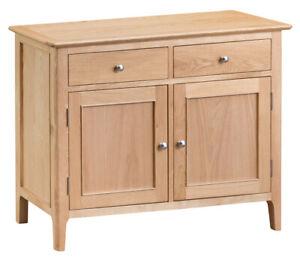Scandi Oak Standard Sideboard / Solid Wood Side Cabinet Cupboard Storage Unit