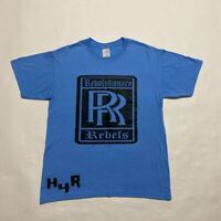 Rebolutionary Rebels RR H4R Mens Graphic T-Shirt Blue Black Short Sleeve Tee M