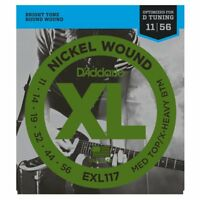 D'Addario EXL117 XL Electric Guitar Strings Medium Top/Extra Heavy Bottom -11-56