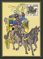 BRD MK POSTKUTSCHE PFERD HORSE CHEVAL MAXIMUMKARTE CARTE MAXIMUM CARD MC d7225