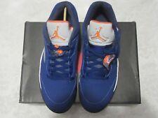 new product 71b40 27fad Nike Air Jordan Knicks Blue Orange Retro 5 Low V 819171 417 Size 11 Sneakers