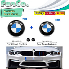 BMW  Replacement Hood and Trunk Emblem Logo Front 82mm Rear 74mm E30 E36 E46
