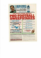 VINTAGE 1966 BROMO SELTZER BART STARR PRO FOOTBALL SWEEPSTAKES AD PRINT