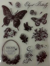 Elegant Butterfly Clear Stamp Set [No.16]