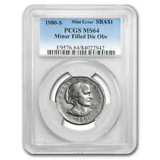 1980-S Susan B Anthony Dollar MS-64 PCGS (Mint Error)