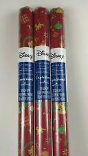 3 New LION KING Disney CHRISTMAS 20sq ft WRAPPING Paper RED Simba CUB Pumbaa