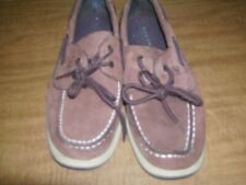 Boys brown Sperry loafers size 5