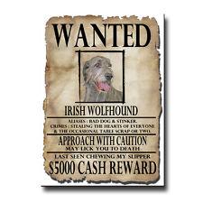 IRISH WOLFHOUND Wanted Poster FRIDGE MAGNET New DOG