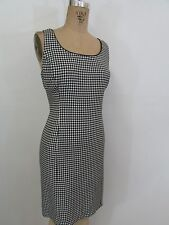 ALEX MARIE Black/White Sleeveless Houndstooth Sheath Dress-Size 8