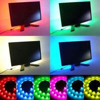 50/100/200cm USB RGB LED TV Hintergrund Beleuchtung Led Leiste Stripe Band Licht