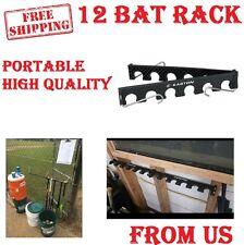 12 Baseball Bat Holder Bracket Fence Wall Rack Vertical Display Organizer New