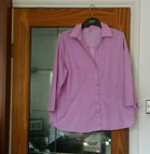 Matalan Pink Lilac Half Sleeve Shirt - Size UK 20