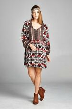 PLUS 2X VELZERA BOHO BOHEMIAN HIPPY GYPSY TRIBAL PATTERN TUNIC TOP BLOUSE