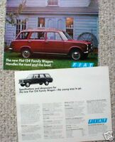 1969/1970 FIAT 124 WAGON Auto/Car Brochure