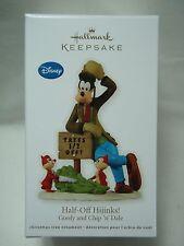 2012 Hallmark Keepsake Ornament Half-Off Hijinks Goofy and Chip N Dale Disney