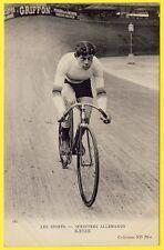 "cpa SPORT CYCLISME 1900 SPRINTER ALLEMAND ""KAESER"" Cycle Racing Vélo RADSPORT"