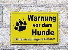 Warnung vor dem Hunde,Gravur,Hundeschild,Warnschild,Hund,Schild,12 x 8 cm,Neu