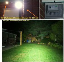 50W COMMERCIAL GRADE SAA Approved LED floodlight Court Garage warehouse backyard