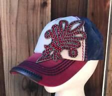 Olive   Pique NWT Rhinestone Fleur de Lis RED WHITE and BLUE Baseball Hat d9b2c10786a