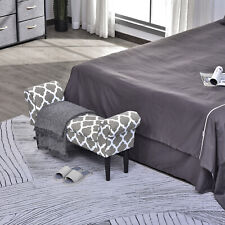 """40"""" Deluxe Fabric Bed Bench Bedside Bench Footstool with Arms End of Bed"""
