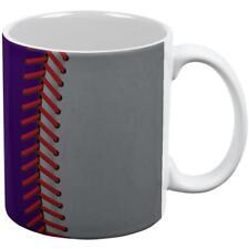 Baseball League Purple and Silver All Over Coffee Mug
