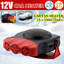 12-Volt Portable 150W Car Fan Heater Windshield Defroster Window Demister 180°