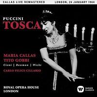 TOSCA (COVENT GARDEN LIVE 24/01/1964) REMASTERED 2017 2 CD NEU PUCCINI,GIACOMO