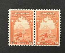 {BJ Stamps} CANADA, E3, 1927 20¢ Special Delivery pair, F-VF, MNH. '17 CV $140.
