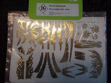 JG Decalcomanie Pre-Cut Vinyl Decals Multi design 1/28TH - Oro
