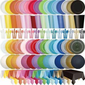 Anniversaire Multicolore Vaisselle Jetable Fête Déco Assiette en Carton Couleurs