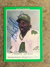 signed IP   ALBERT BROWN   CFL  SASKATCHEWAN ROUGHRIDERS   Royal Studios /90