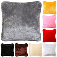 FLUFFY FAUX FUR SHAGGY SOFT SOFA CHAIR PILLOW CASE CUSHION COVER BED HOME DECOR