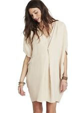 Hatch Maternity Women's THE NANDA DRESS Linen Sand Size P (PETITE) $218 NEW