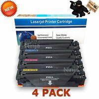 4 Pack CF410A Toner Set for HP Color LaserJet Pro M452dw M477fdn M477fdw M477fnw