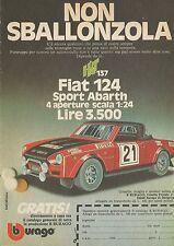 X1282 FIAT 124 SPORT ABARTH - BBURAGO - Pubblicità 1977 - Advertising